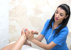 Processes foot massage Royalty Free Stock Images
