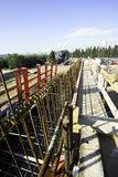 Processes scene of civil engineering construction Royalty Free Stock Image