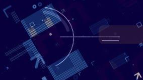 Processeur avancé sur le contexte bleu de techno illustration libre de droits