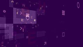Processeur avec Chip Grids sur Violet Backdrop Images libres de droits