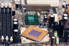 Processeur Chip On Motherboard d'ordinateur photographie stock libre de droits