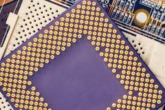 Processeur Chip On Motherboard d'ordinateur images libres de droits