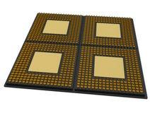 Processeur de CPU de 4 noyaux Images libres de droits