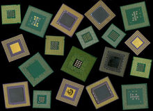 Processeur de puce/ordinateur de CPU Photographie stock