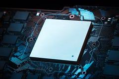 Processeur graphique puissant futuriste photo stock