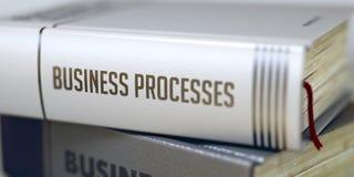 Processi aziendali Titolo del libro sulla spina dorsale 3d Immagini Stock