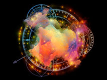 Processing Abstract Visualization Stock Photo