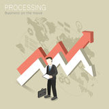 Processing concept. Flat 3d isometric design of processing concept Stock Image
