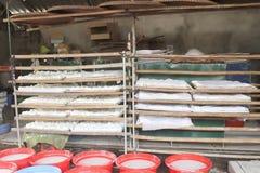 Processing Kudzu flour Royalty Free Stock Photo