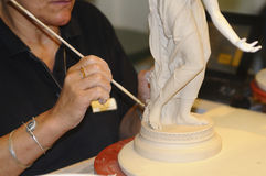 Processing for the manufacture of porcelain meissen Stock Image