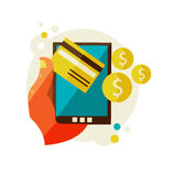 Processing of mobile payments Royalty Free Stock Images