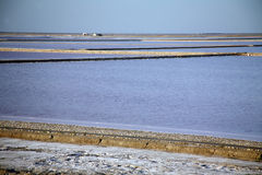 Processing salt camargue delta of the Rhone Provence France Royalty Free Stock Photo