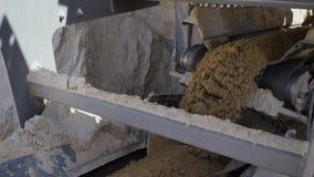 Conveyor Belt Transporting Soil Stock Footage - Video of
