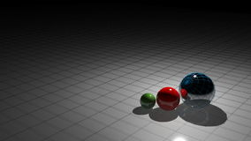 PROCESSING with spheres stock video