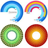 Processing Wheel Chart Set Royalty Free Stock Photo
