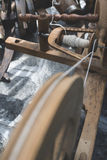 Processing of wool Stock Image