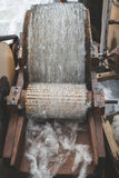 Processing of wool Stock Photo