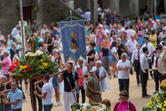 Procession royalty free stock photo