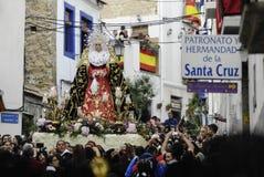 procession av grannskapen av Alicante Santa Cruz Royaltyfri Bild