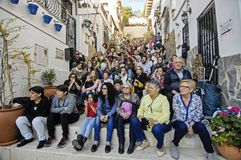 procession av grannskapen av Alicante Santa Cruz Royaltyfria Foton