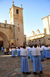 Procession av oskulden av berget, festmåltid av beskyddaren, Caceres, Extremadura, Spanien Royaltyfri Bild