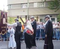 Procession av Virgenen de la paloma Royaltyfria Foton