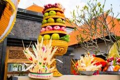 Procession of beautiful Balinese hindu ceremony in Bali island Stock Image