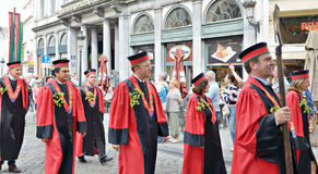 Procession on Belgian Beer Weekend Royalty Free Stock Photography