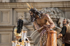 Procession of the brotherhood of the Cigar, Holy Week in Seville Royalty Free Stock Photos