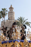 Procession of the brotherhood of the Cigar, Holy Week in Seville Stock Photos