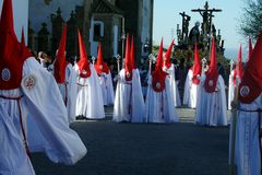 Saint Blas Procession in Carmona 24. This is the procession of the brotherhood of Saint Blas royalty free stock photo