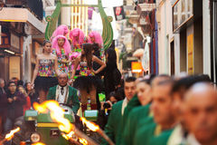 Procession of burial Carnestoltes  in Sitges Royalty Free Stock Photo
