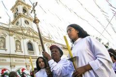 Procession catholic Stock Image