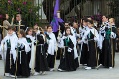 Procession with children Royalty Free Stock Image