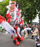Procession of colorful costumes of Luton Carnival Stock Photography