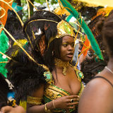 Procession of colorful costumes of Luton Carnival Stock Images