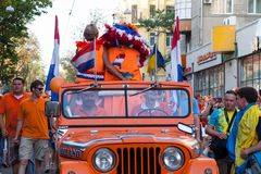 Procession of Dutch fans Stock Image