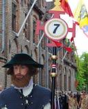 procession för Belgien blodbruges helgedom arkivfoto