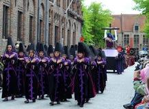 procession för blodbruges helgedom royaltyfri foto