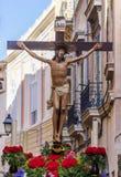 Procession för helig vecka i Palma de Mallorca Arkivbilder