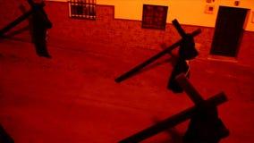 Procession för helig vecka i Spanien, Andalusia lager videofilmer