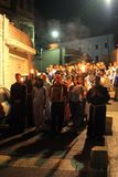 Procession goes through the streets of Nazareth Royalty Free Stock Photography