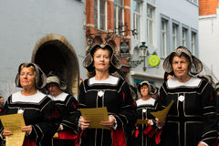 Procession of the Holy Blood in Bruges Royalty Free Stock Image