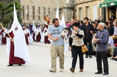 Procession of Holy Week in Galicia (Spain) Royalty Free Stock Photo
