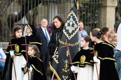 Procession of Holy Week in Galicia (Spain) Stock Images