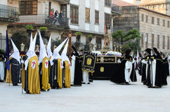 Procession of Holy Week in Galicia (Spain) Stock Photo