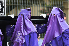 Procession of Holy Week in Galicia (Spain) Stock Photos