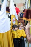Procession of Holy Week in Galicia (Spain) Royalty Free Stock Images