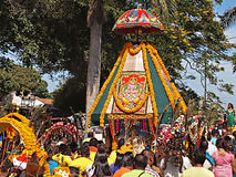 A procession at a Kavady festival Stock Photo