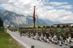 Procession of Maria Ascension in Axams Austria Stock Image
